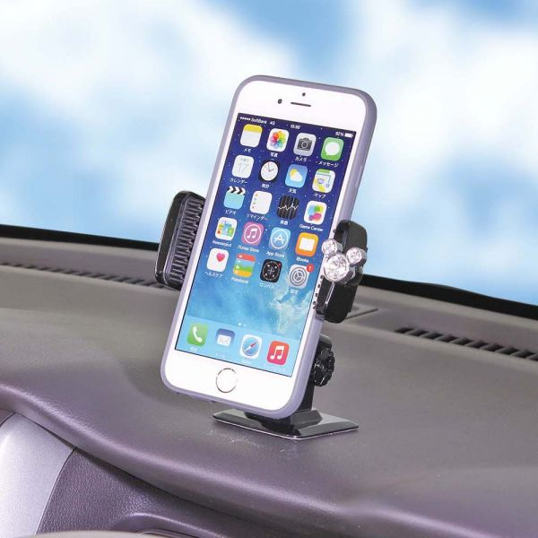 NAPOLEX Disney Mickey Mouse Crystal Cell Phone Holder WD-311 Car Accessory